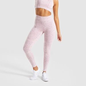 GYMSHARK Fleur Texture Legging Size M Pink Marl
